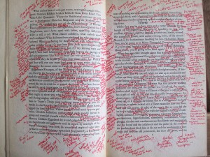 Annotations Finnegans Wake - licence Creative commons - Karl Steel - Flickr